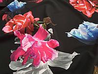 Креп шовк Троянда на темному фоні