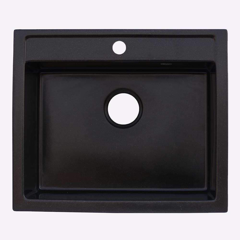 Мойка гранитная Platinum 5850 черная (брак№665)