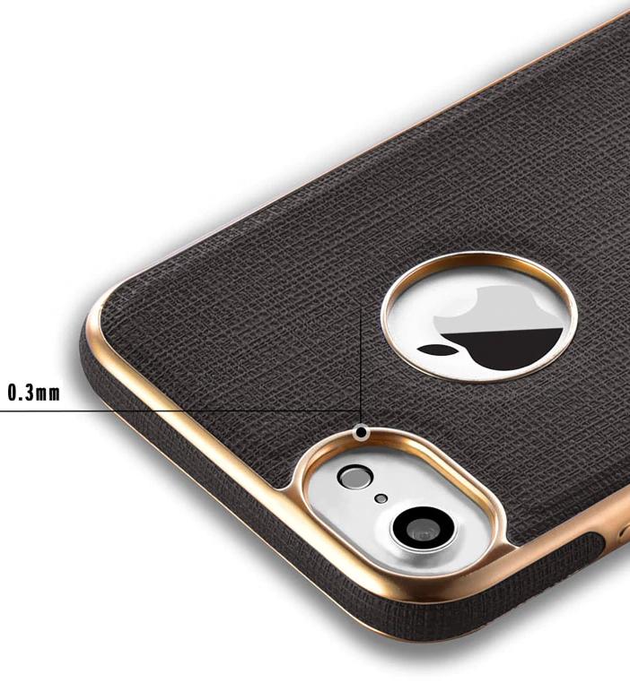 Прорезиненный Чехол для iPhone 7 iPhone 8 Black Gold