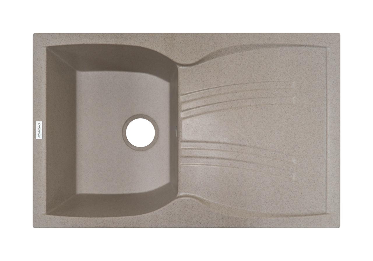 Кухонная мойка из искусственного камня с крылом 79*50*23 см ADAMANT NEW LINE (терра)