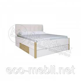 Двоспальне ліжко 180х200 2Ш мяка спинка без каркасу у спальню Флоренція Сан Маріно - Білий Глянець Міромарк