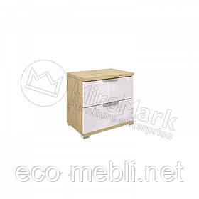 Приліжкова тумба 2Ш у спальню Флоренція Сан Маріно - Білий Глянець Міромарк