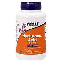 Комплекс для суставов и связок NOW Hyaluronic Acid with MSM 120 veg caps