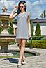 ✔️ Женское летное платье-туника асимметричное 42-50 размера серое