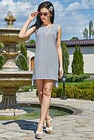 ✔️ Женское летное платье-туника асимметричное 42-50 размера серое, фото 1