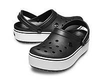 Женские черные кроксы на платформе, сабо Crocs Platform оригинал