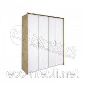 Шафа розпашна 4Д без дзеркала у спальню Флоренція Сан Маріно - Білий Глянець Міромарк