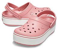 Женские розовые кроксы на платформе, сабо Crocs Platform оригинал