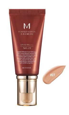 BB крем Missha M Perfect Cover BB Cream SPF 42 PA+++ №27 с дозатором