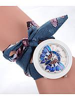 Наручные модные часы на тканевом браслете