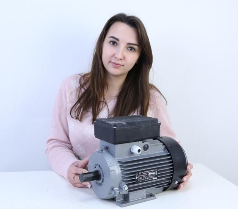 Однофазный электродвигатель 2,2 кВт 3000 об/мин (АИР 1Е 80С2)