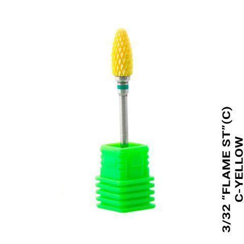 Насадка к фрезеру керамическая (кукуруза) зеленая насечка
