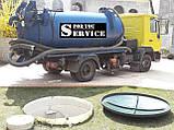 Выкачка туалетов шланг 40м.чистка сливных ям, фото 9