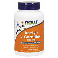 Снижения веса NOW Acetyl-L-Carnitine 500 mg 100 veg caps