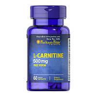 Снижения веса Puritan's Pride L-Carnitine 500 mg 60 caplets