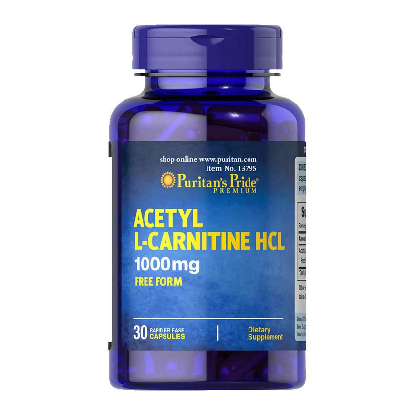Снижения веса Puritan's Pride Acetyl L-Carnitine 1000 mg 30 caps