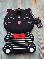 Резиновый объемный 3D чехол дляHuawei Y625 Полосатый котик