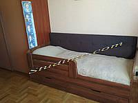 Детская уютная кровать с мягкой спинкой Релакс, 1800 х 800