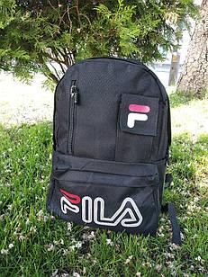 Рюкзак в стиле Fila (копия) в черном цвете, из полиэстера