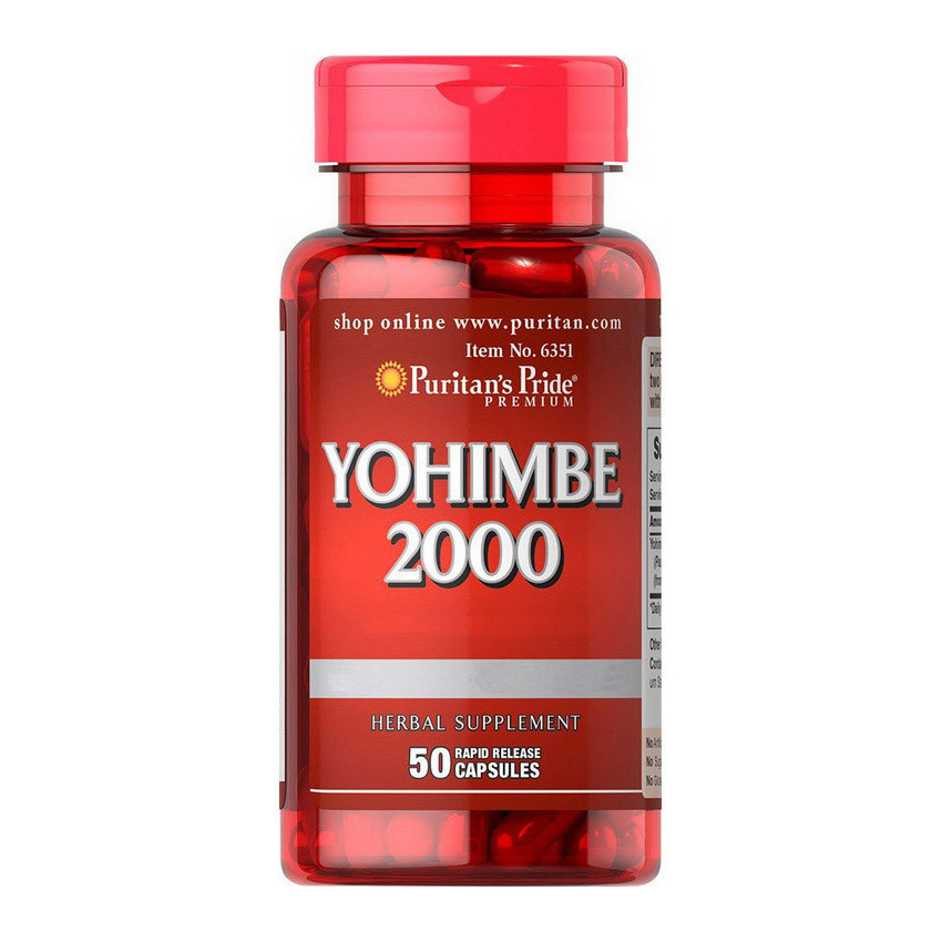 Повышение тестостерона Puritan's Pride Yohimbe 2000 mg 50 capsules