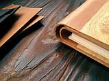 """Деревянная свадебная книга для пожеланий 17х28 см с кожаным корешком """"Венок Акварель"""", фото 4"""
