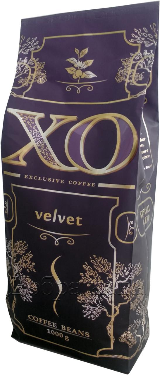 Опт 10кг кофе в зернах XO Velvet (60% Арабика) 1 кг.