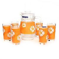 Графін з стаканами Luminarc Paqueretto melon 1.6л 7 предметів
