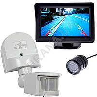 Комплект видео наблюдения PIR (камера+монитор+датчик движения)