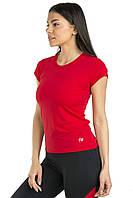 Спортивная футболка SW (40,42,44,46,48,50,52) женская футболка для спорта и фитнеса большие размеры КРАСНЫЙ