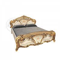 Двоспальне ліжко 160х200 без каркасу у спальню Реджина Радіка Беж - Золото Міромарк
