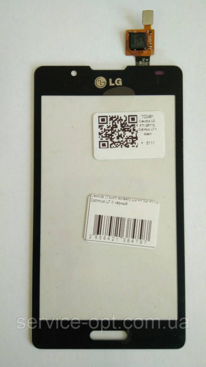 Сенсор (тачскрин) LG P710, P713 Optimus L7 II чёрный