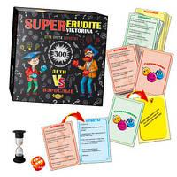 Настольная игра  SUPER Erudite viktorina. Дети против взрослых