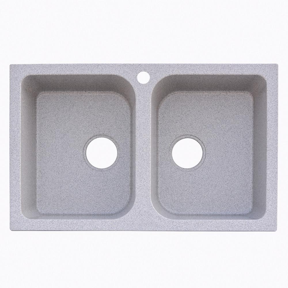 Гранитная мойка Platinum 7648W серый (брак№719)