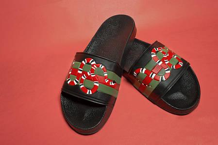 Мужские сланцы Gucci Red Snake (Реплика) Остался 40 размер, фото 2