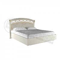 Двоспальне ліжко 160х200 з каркасом у спальню Роселла Радіка Беж Міромарк