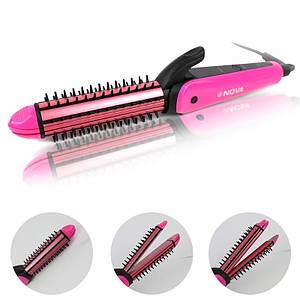 Плойка утюжок расческа для волос 3в1 Nova NHC-8890 139054