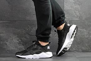 Мужские кроссовки Nike Air Huarache черно-белые, фото 2