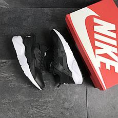 Мужские кроссовки Nike Air Huarache черно-белые, фото 3