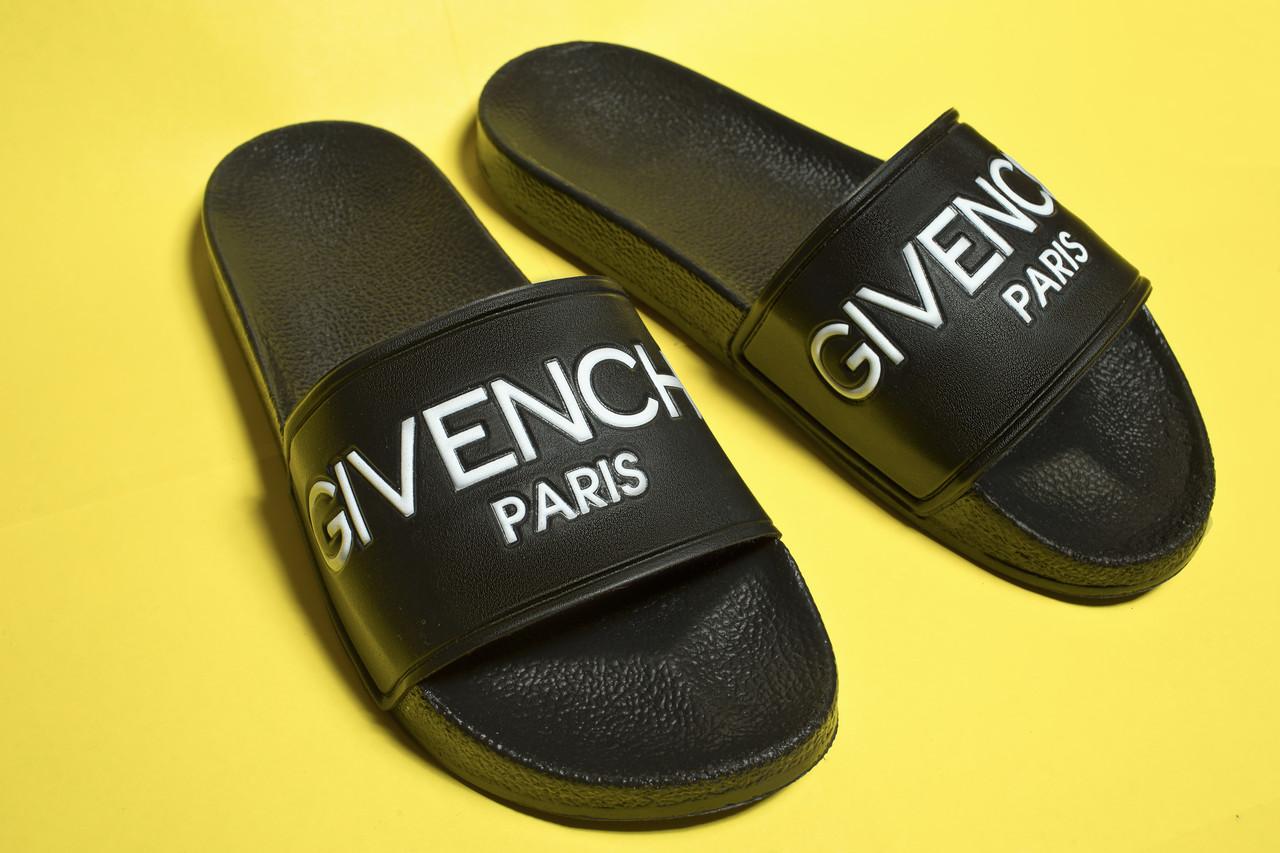 Мужские сланцы Givenchy Black  (Реплика)