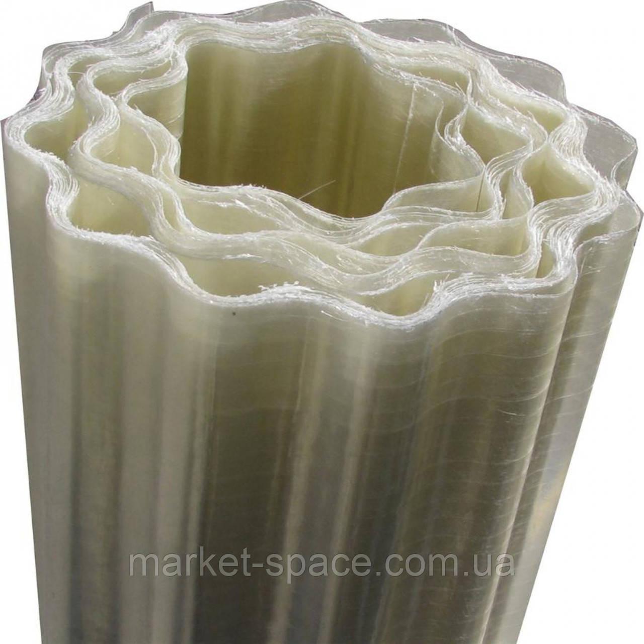 "Пластиковый шифер ""Волнопласт"". Цвет: прозрачный. Размер рулона: Д:21м*Ш:1,5м=31.5 кв.м"