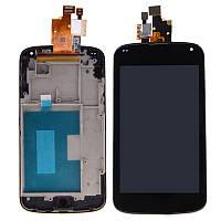 Дисплей LG E960 Nexus4 + сенсор чёрный + рамка оригинал