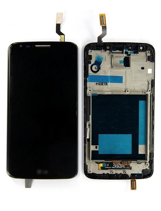 Дисплей LG D802 G2, D805 G2 + сенсор чорний оригінал 20 пін + рамка
