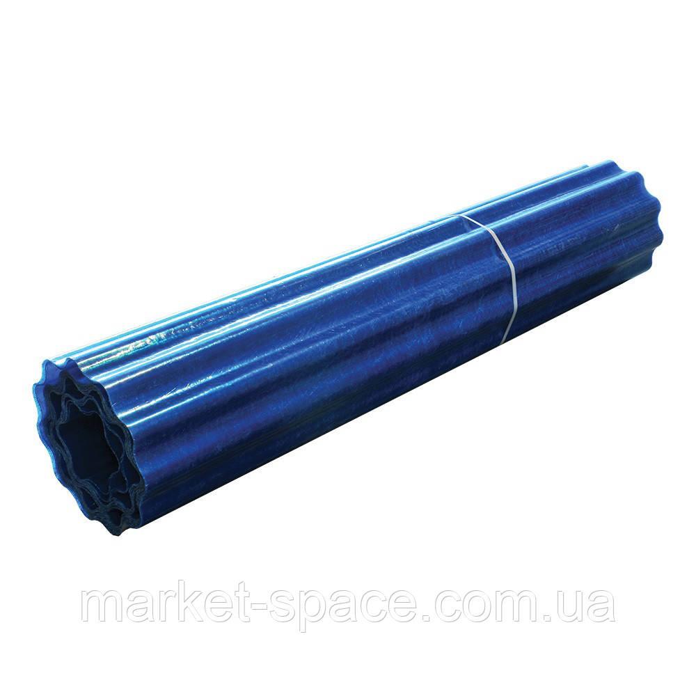 "Пластиковый шифер ""Волнопласт"". Цвет: синий. Размер рулона: Д:21м*Ш:2м=42 кв.м"