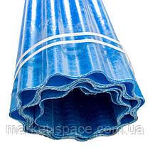 "Пластиковый шифер ""Волнопласт"". Цвет: синий. Размер рулона: Д:21м*Ш:2м=42 кв.м, фото 3"