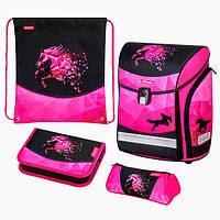 Ранец Herlitz Midi Plus Magic Horse Лошадка  4 предмета ортопедический рюкзак для младшей школы
