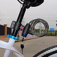 Велозамок Anti-Theft 578 противоугонный тросовый под ключ. , фото 1