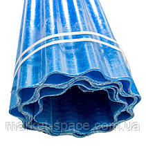 "Пластиковый шифер ""Волнопласт"". Цвет: синий. Размер рулона: Д:21м*Ш:2,5м=52.5 кв.м, фото 3"