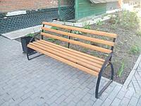 Лавочки, скамейки уличные (металл+дерево), 2000х500, Хмельницкий, доставка по Украине