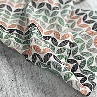 Отрез ткани корейский хлопок - цветная геометрия