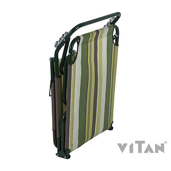 "Раскладушка Витан ""Диагональ"" d22 мм (текстилен зеленая полоса), фото 2"